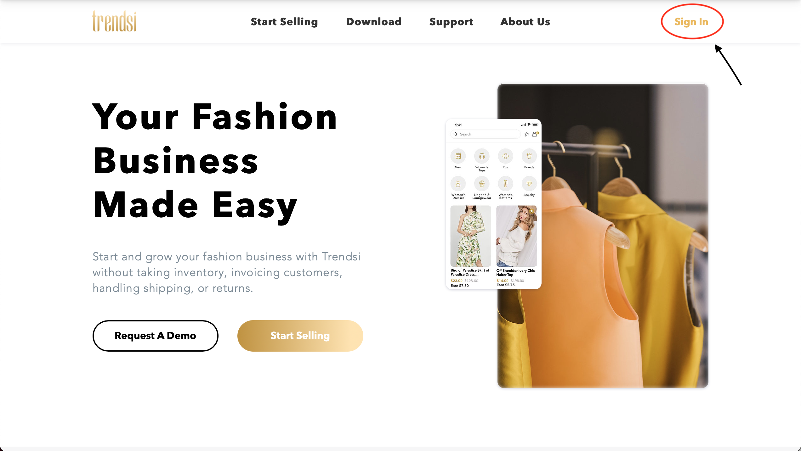 Landing Page Sign In